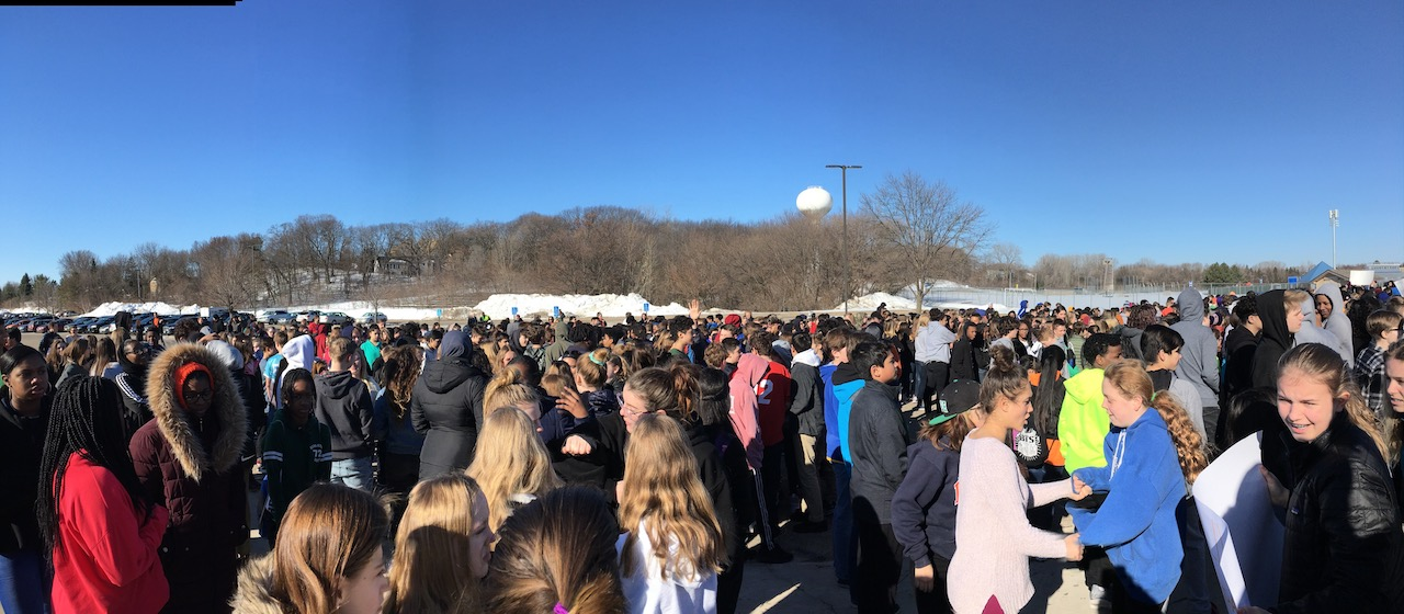 Students at National School Walkout in Hopkins, Minnesota